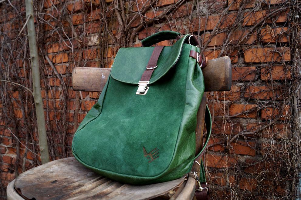 822cc984fbef5 LILITH plecak torba zielona skóra - plecaki - Pakamera.pl
