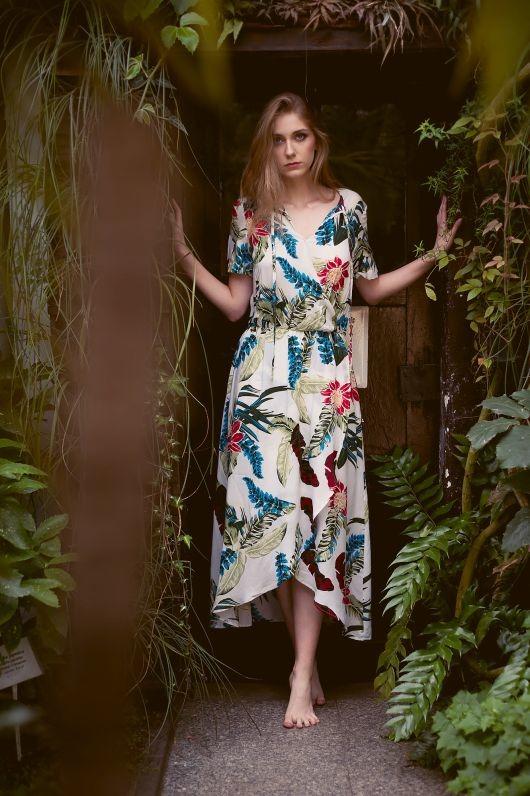 Sukienka Fio Maxi-Flowers