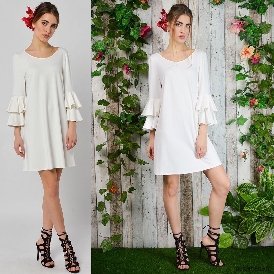 Czeremcha - biała sukienka