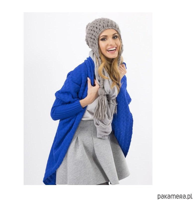 Sweter Kardigan POLO modrakowy