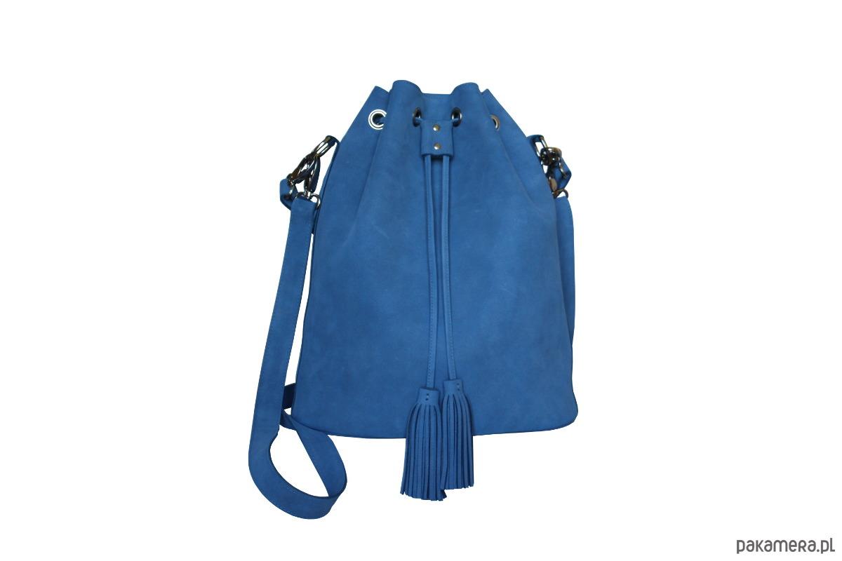 40de1e2b7ddfa A&M - WOREK SKÓRZANY - niebieski - torby na ramię - damskie ...