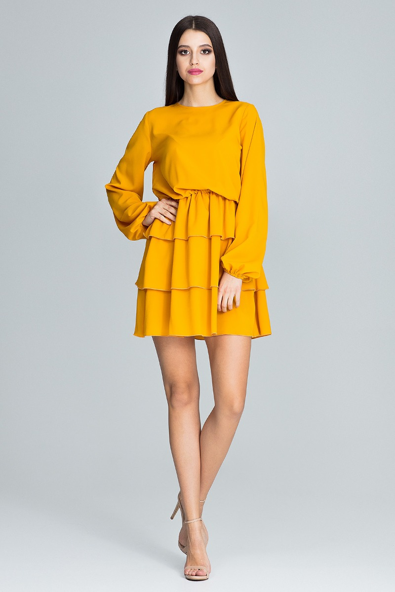 Sukienka mini m601 zolty