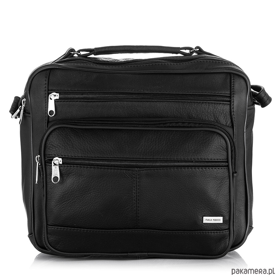 08f46d754c akcesoria - torby i nerki - męskie-Skórzana torba męska na ramię Paolo  Peruzzi