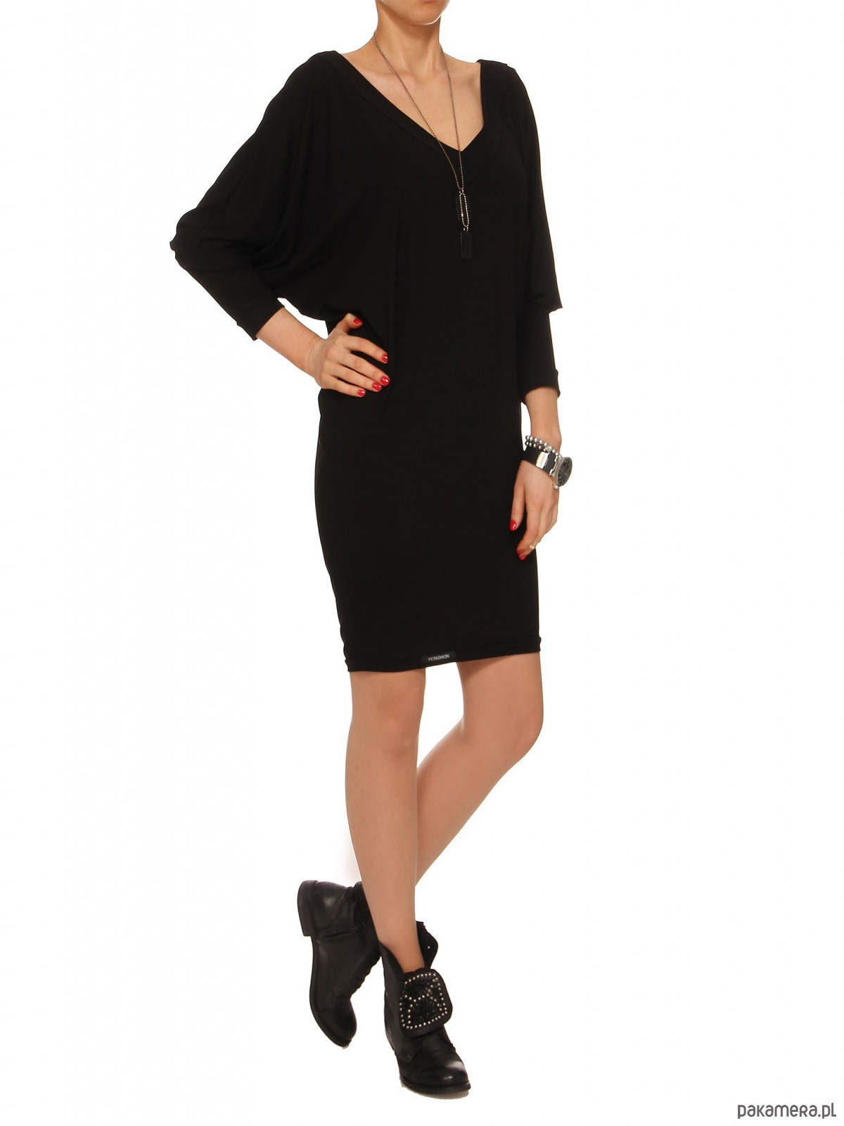 Sukienka czarna YY100060_RAL9005