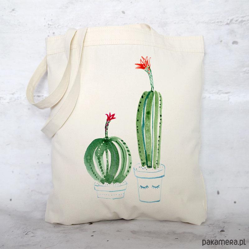63b9a8a33bebe Eko torba na zakupy bawełniana KAKTUSY - torby na zakupy - damskie -  Pakamera.pl