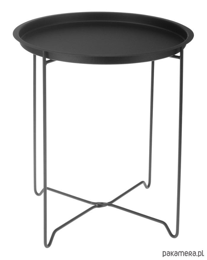Unikalne Stolik Metalowy Czarny - meble - stoły i stoliki - stoliki kawowe VN61