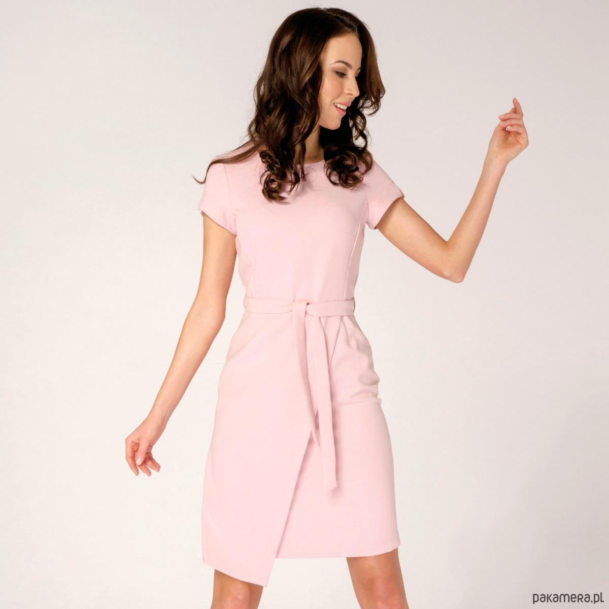 Sukienka Kopertowa Silena Różowa