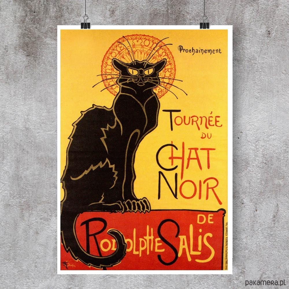 Le Chat Noir Plakat W Stylu Vintage Pakamerapl