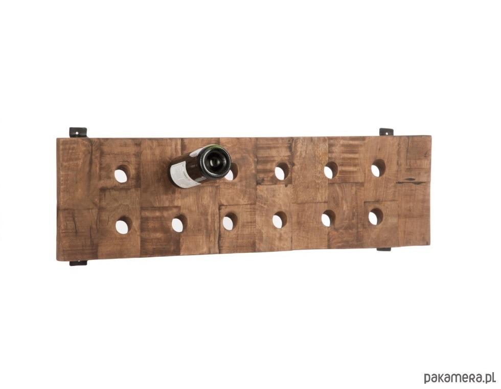 Bardzo dobryFantastyczny Stojak na wino, 12 butelek, drewniany, 90x26 cm - kuchnia - różne YN77