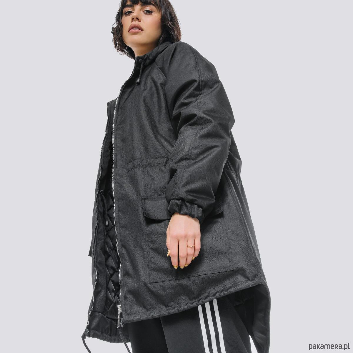Kurtka ocieplana płaszcz typu parka czarna