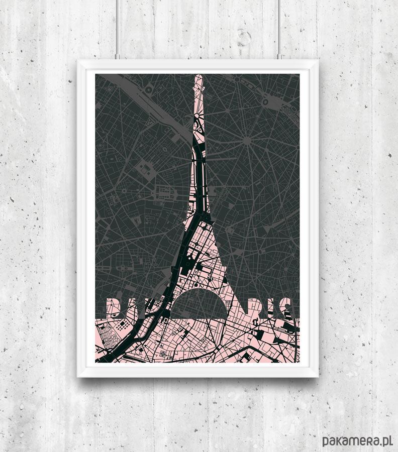 Paryż Wieża Eiffla Plakat Pakamerapl