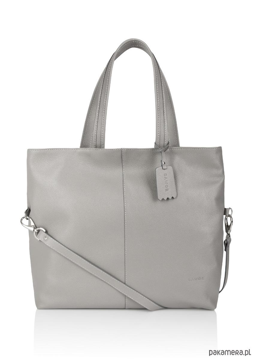 ba874f17055ef torby na zakupy - damskie-Skórzana pojemna torebka worek popiel Jeanne