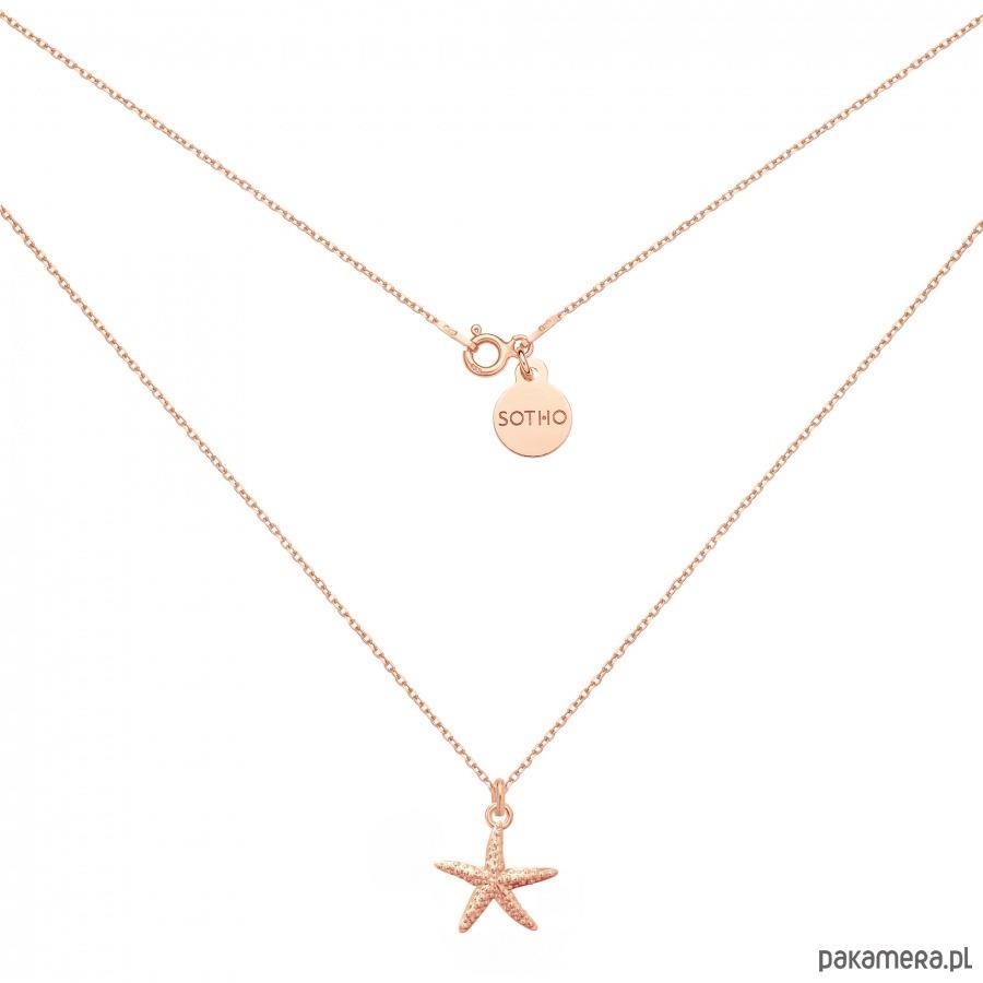 Naszyjnik z rozgwiazdą z różowego złota - naszyjniki - minimalistyczne 0gi2S8Up