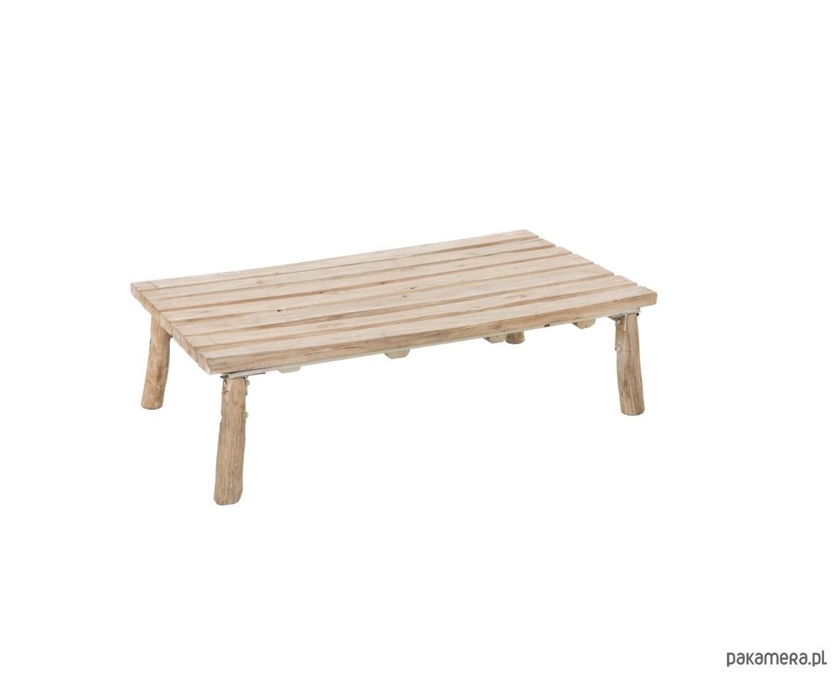Stolik Kawowy Prostokątny Drewno 30x120x65 Cm Pakamerapl