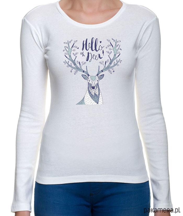 leśna koszulka damska z jeleniem