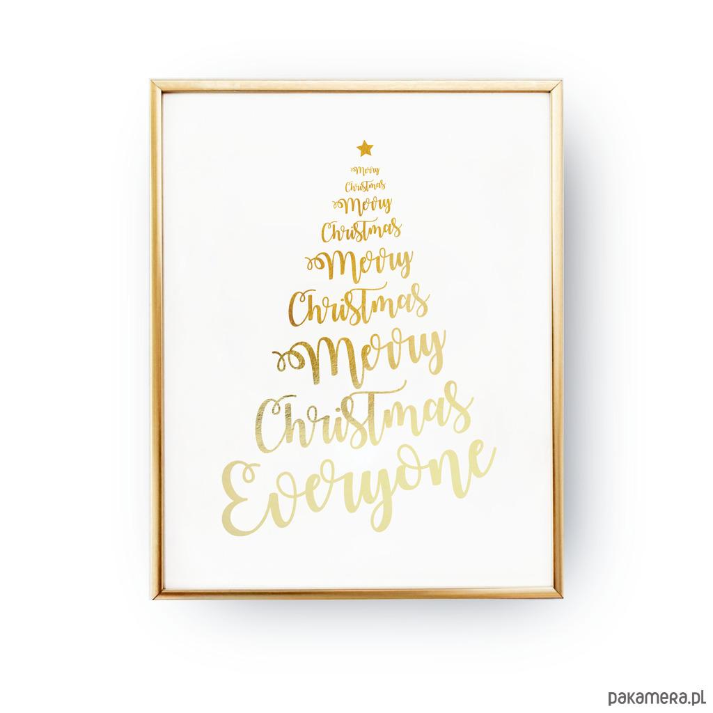 Christmas Tree Plakat świąteczny Pakamerapl