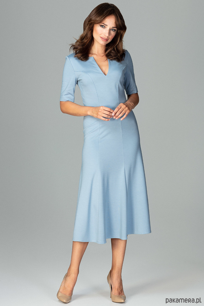 Sukienka K478 Niebieski