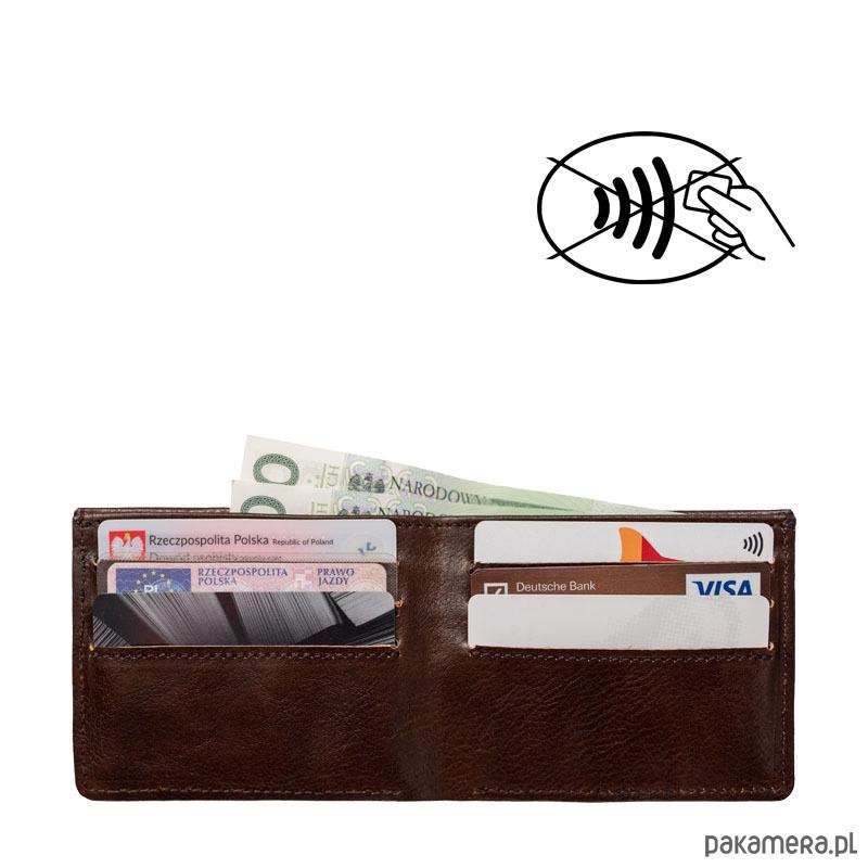 99b5fbf3ea444 Skórzany męski portfel SLIM z blokadą RFID - akcesoria - portfele ...