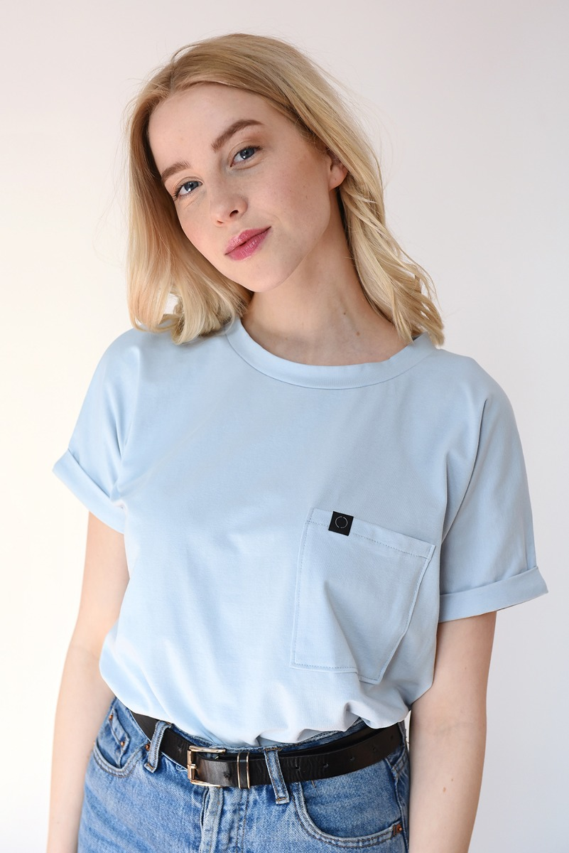 BABY BLUE Pocket Tee
