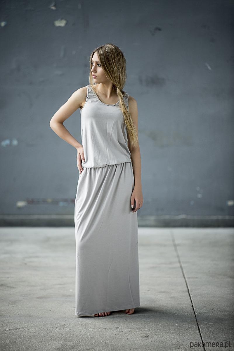 Sukienka Long - szara