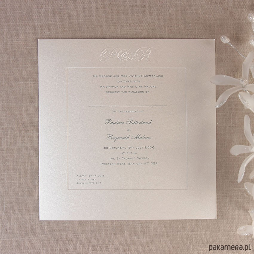 Zaproszenia ślubne Klasyczne ślub Zaproszenia Kartki Pakamerapl