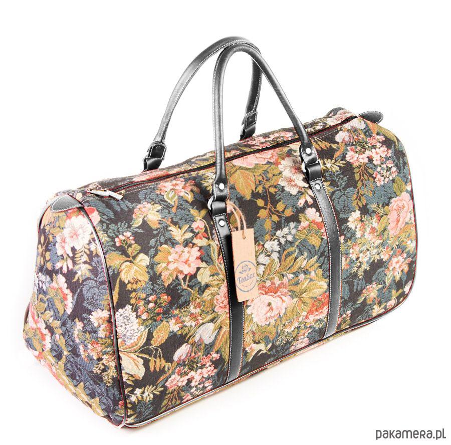 b98a4f992a3a5 Gobelinowa torba podróżno-sportowa Fleurette - torby podróżne ...