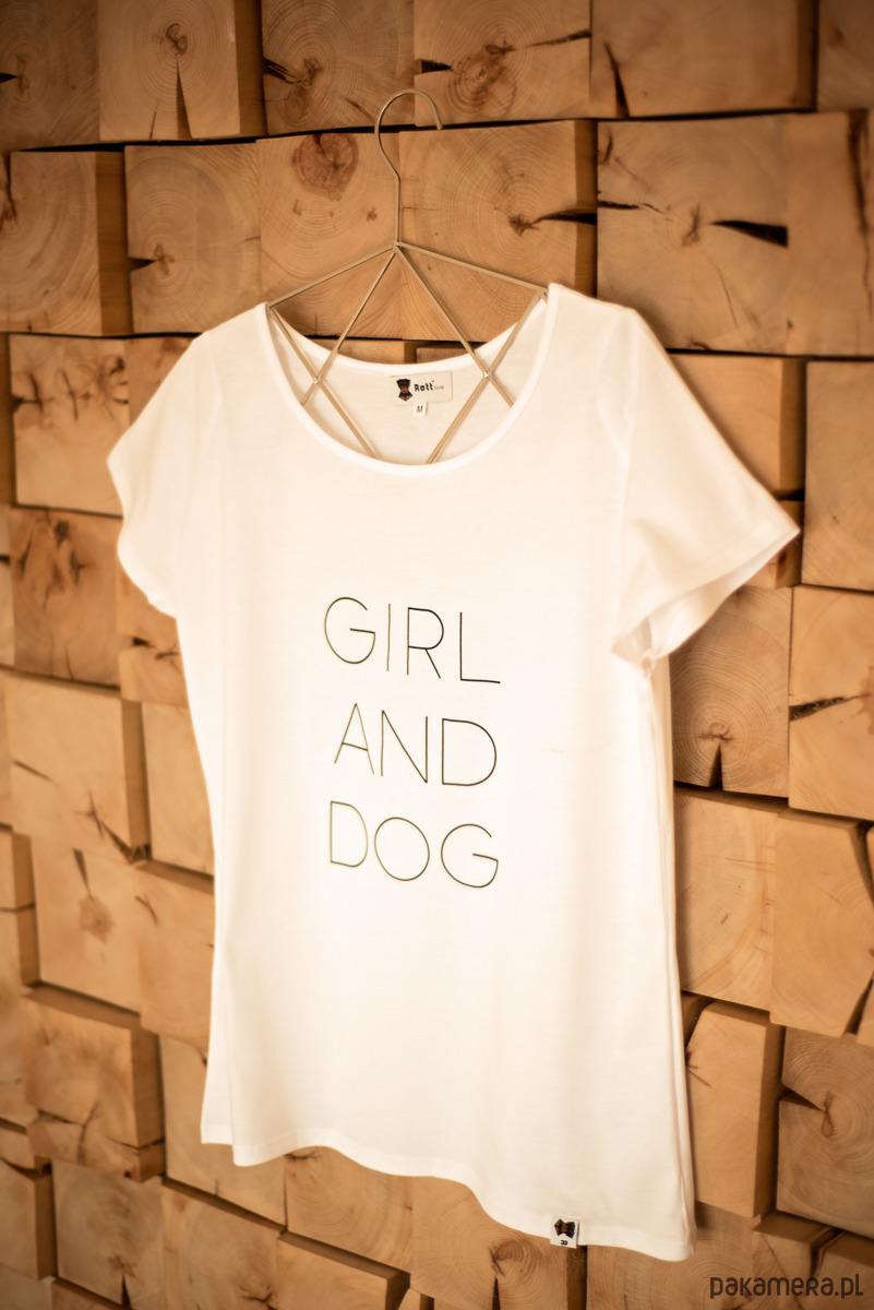 GIRL AND DOG white