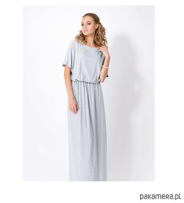 Sukienka LONGIN długa szara
