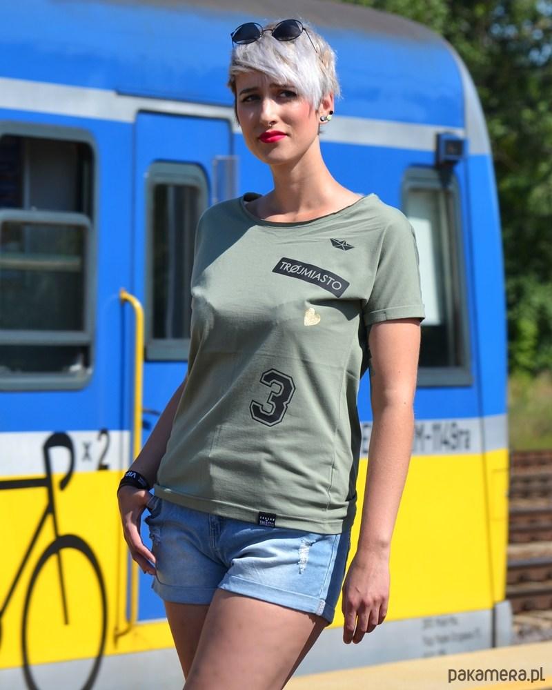 T-shirt oversize TRÓJMIASTO mini