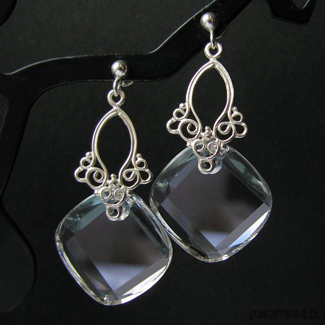 20bc5697cb18af Kolczyki kryształ Swarovski Księżycowe - Biżuteria ślubna - Pakamera.pl