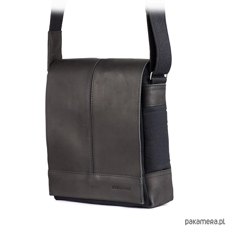 bcbf3cbfa875c akcesoria - torby i nerki - męskie-Raportówka czarna męska na ramię