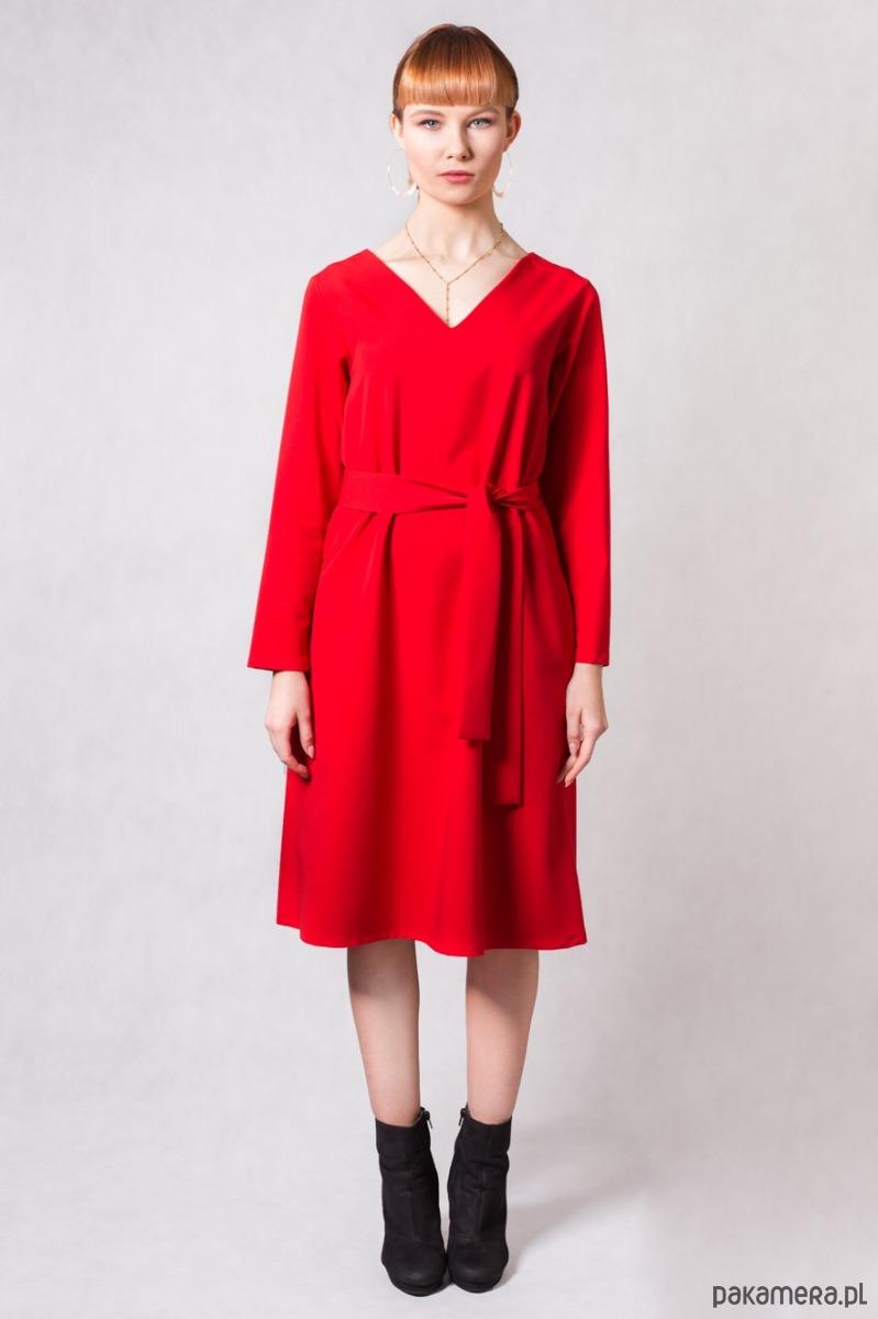 Sukienka SIMPLICITY RED TRUE COLOR BY ANN