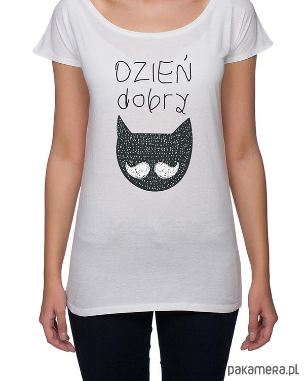 koszulka damska. dzień dobry koteczku