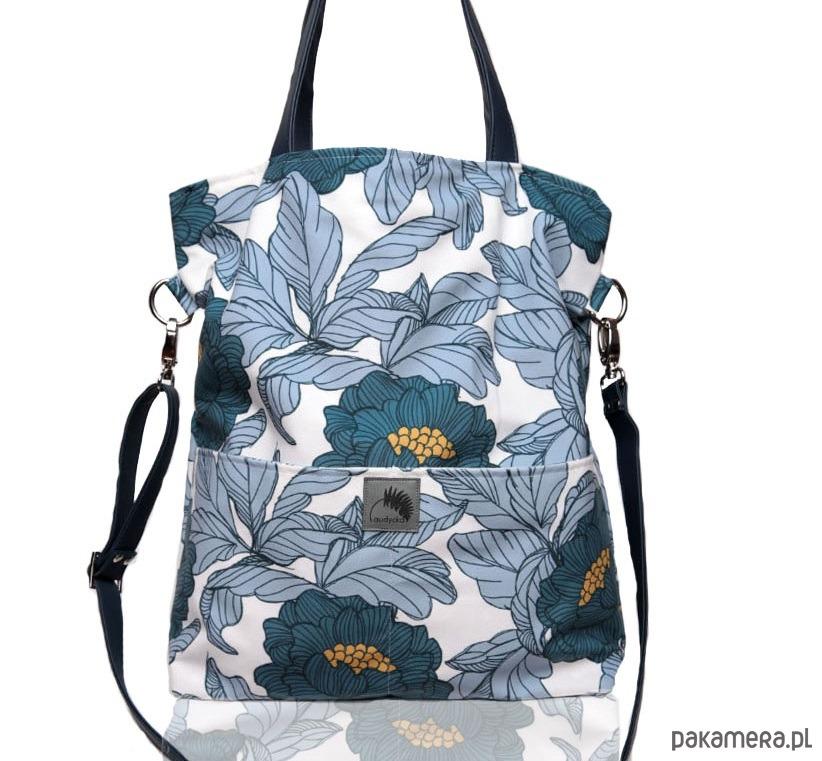 róże,torba w kwiaty,kwiecista torba,na lato Na ramię