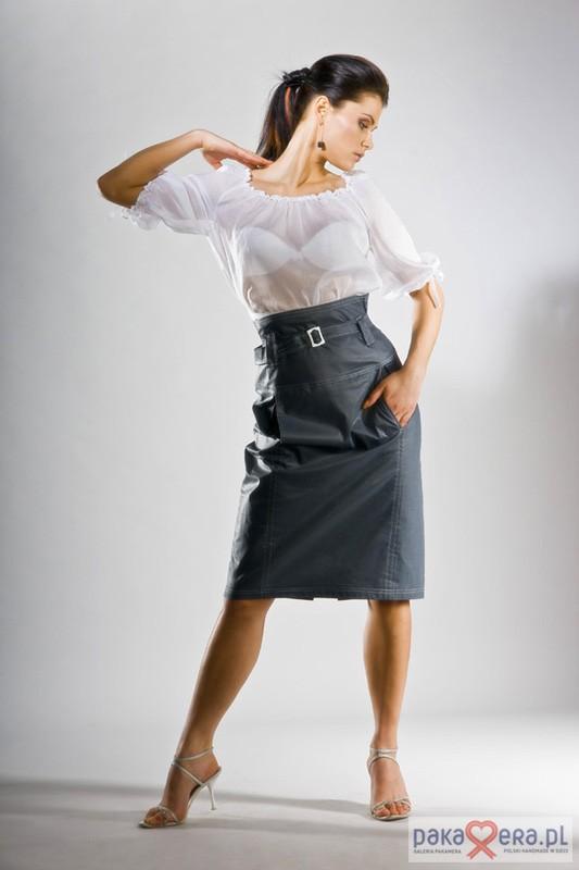 02bb6c1540 ubrania różne-Spódnica z wysokim stanem
