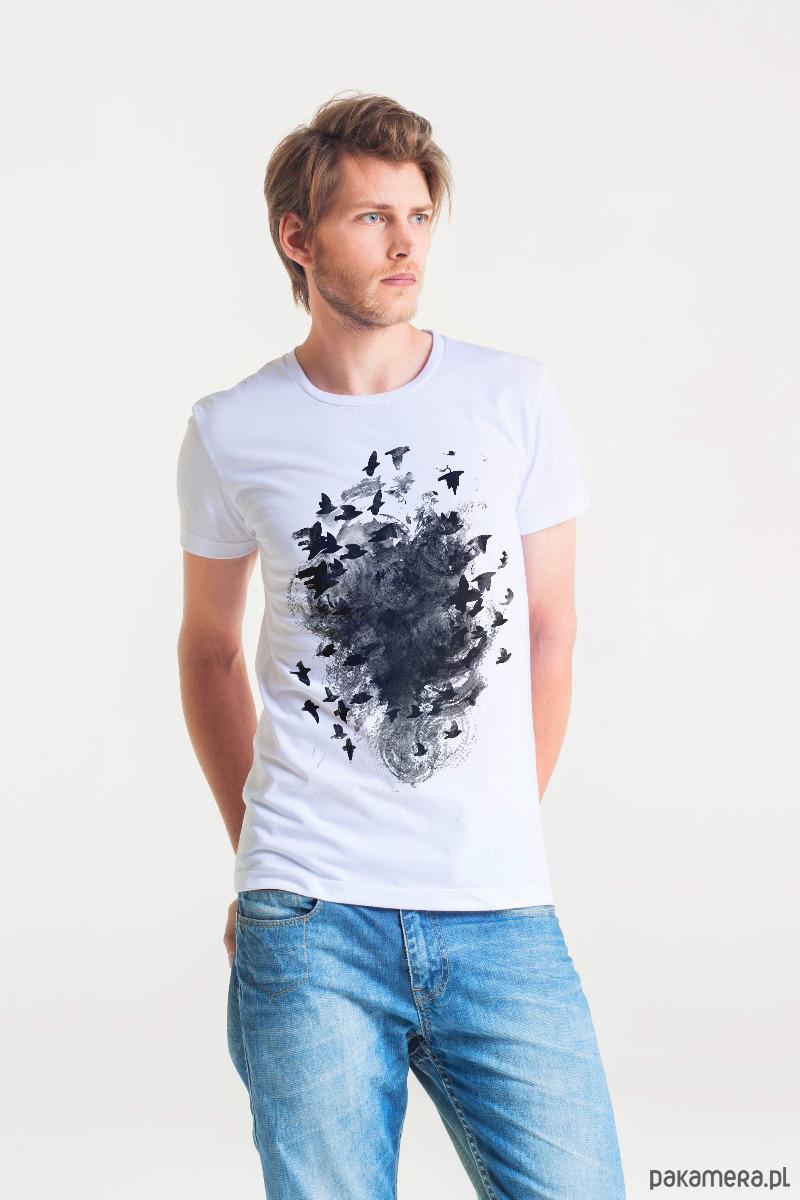 BLACK BIRDS - MęskI T-shirt BIAŁY - 2039299