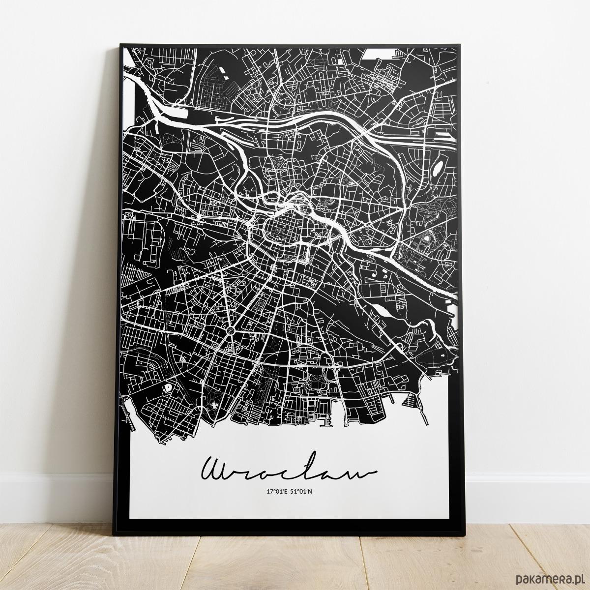 Plakat Wrocław Mapa Pakamerapl