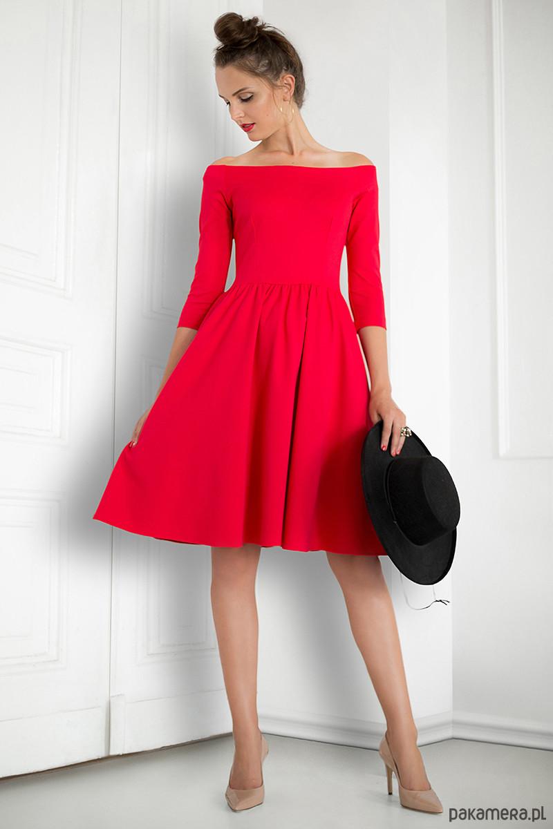 9794ae54268b23 Czerwona sukienka hiszpanka - Moda - sukienki - midi - Pakamera.pl