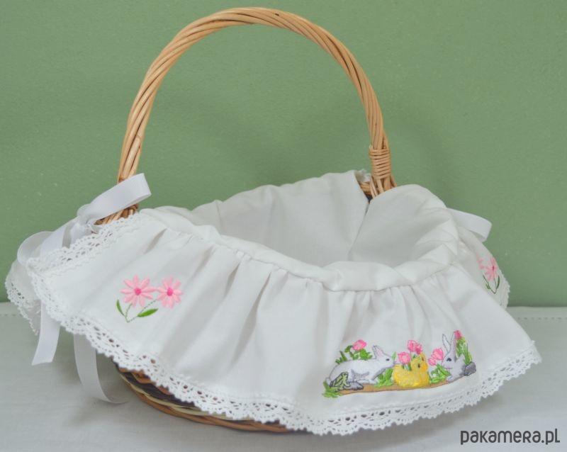 Koszyk Wielkanocny SCENKA haftowany! - 2033990