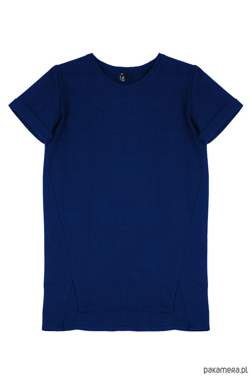 Tshirt BASIC kobaltowy