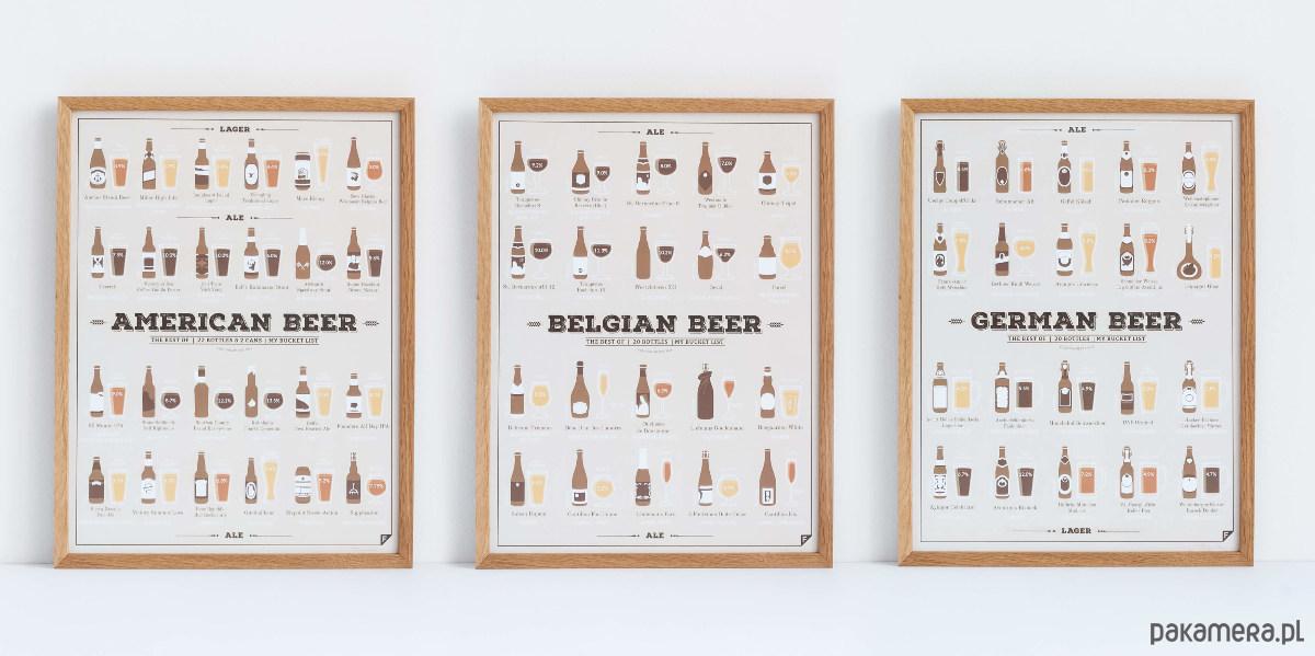 Zestaw Miłośnika Piwa Plakaty Pakamerapl