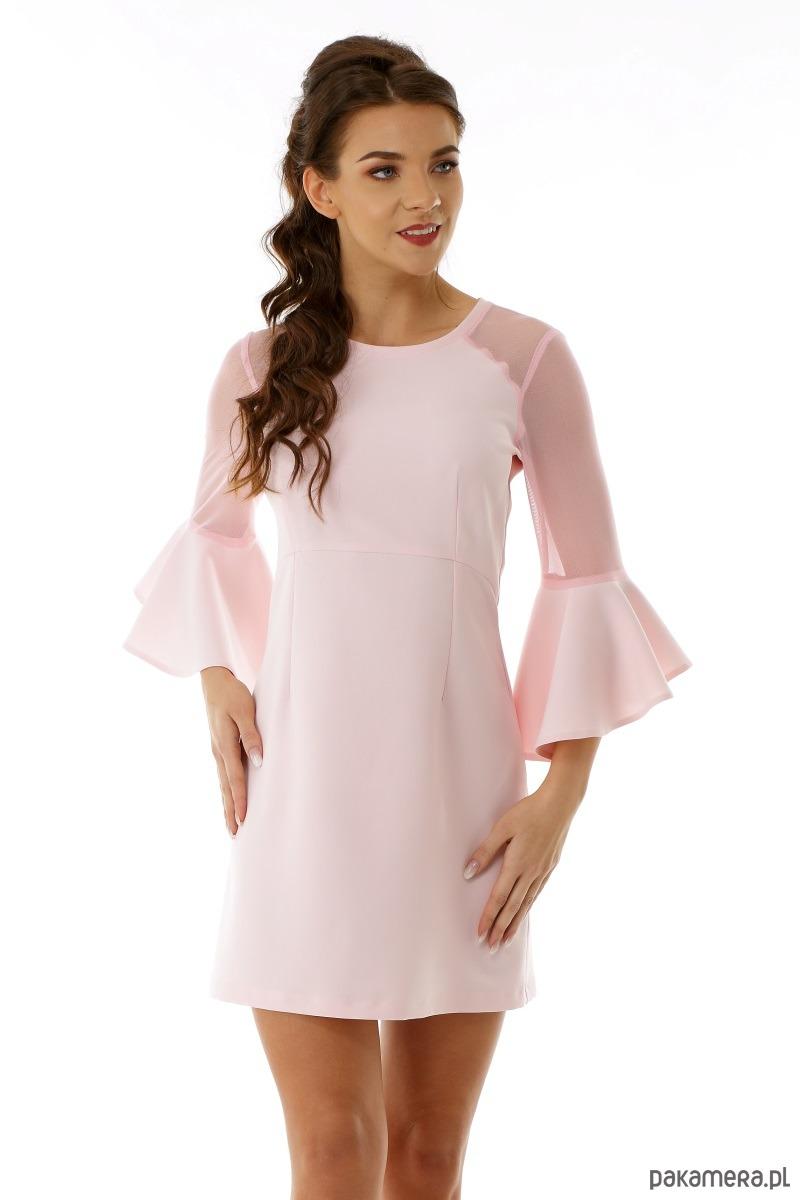 f8a0377dcc70c9 Sukienka szerokimi rękawami Dora różowa - Moda - sukienki - mini ...