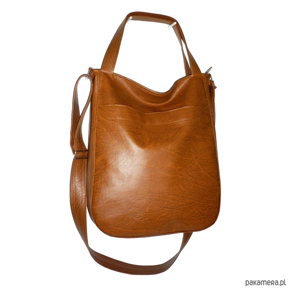 brązowa torba na ramię, brązowa listonoszka