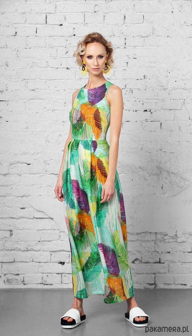 Długa lniana suknia Dolce Vita