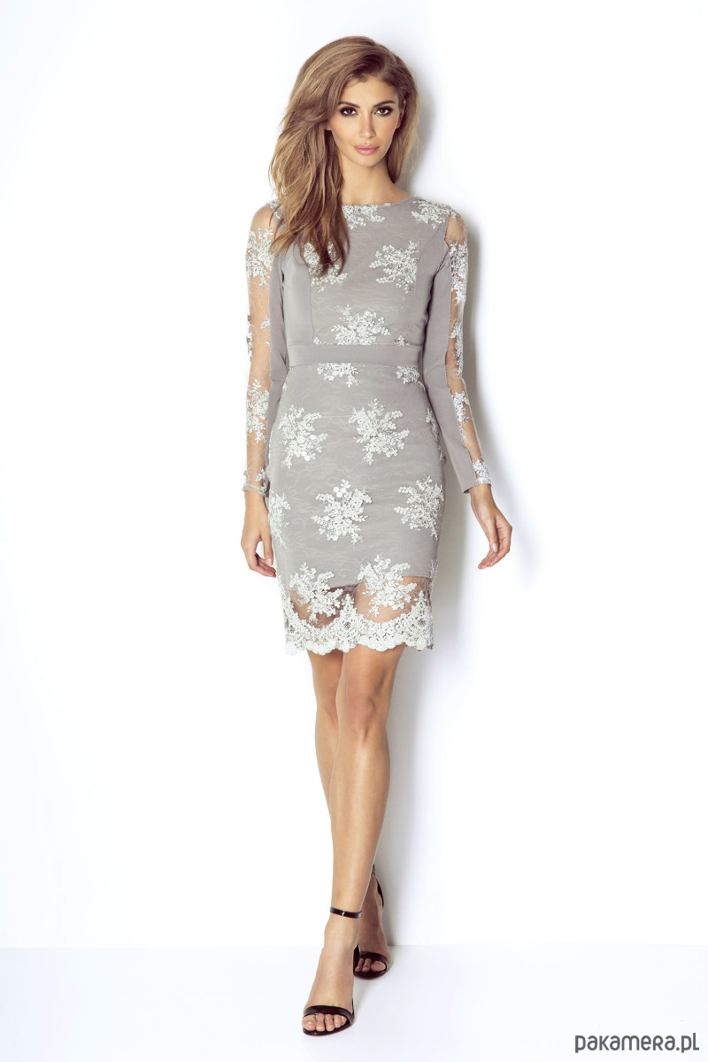 Sukienka Paris-popiel