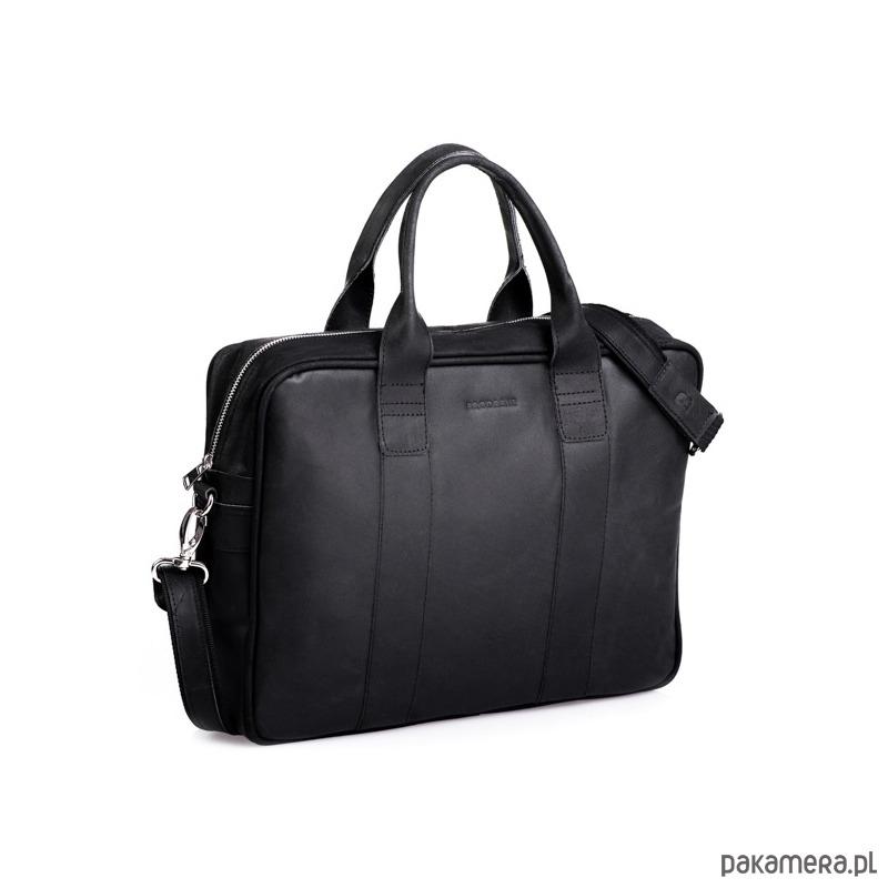 83f236943a507 akcesoria - torby i nerki - męskie-Czarna męska torba skórzana na ramię