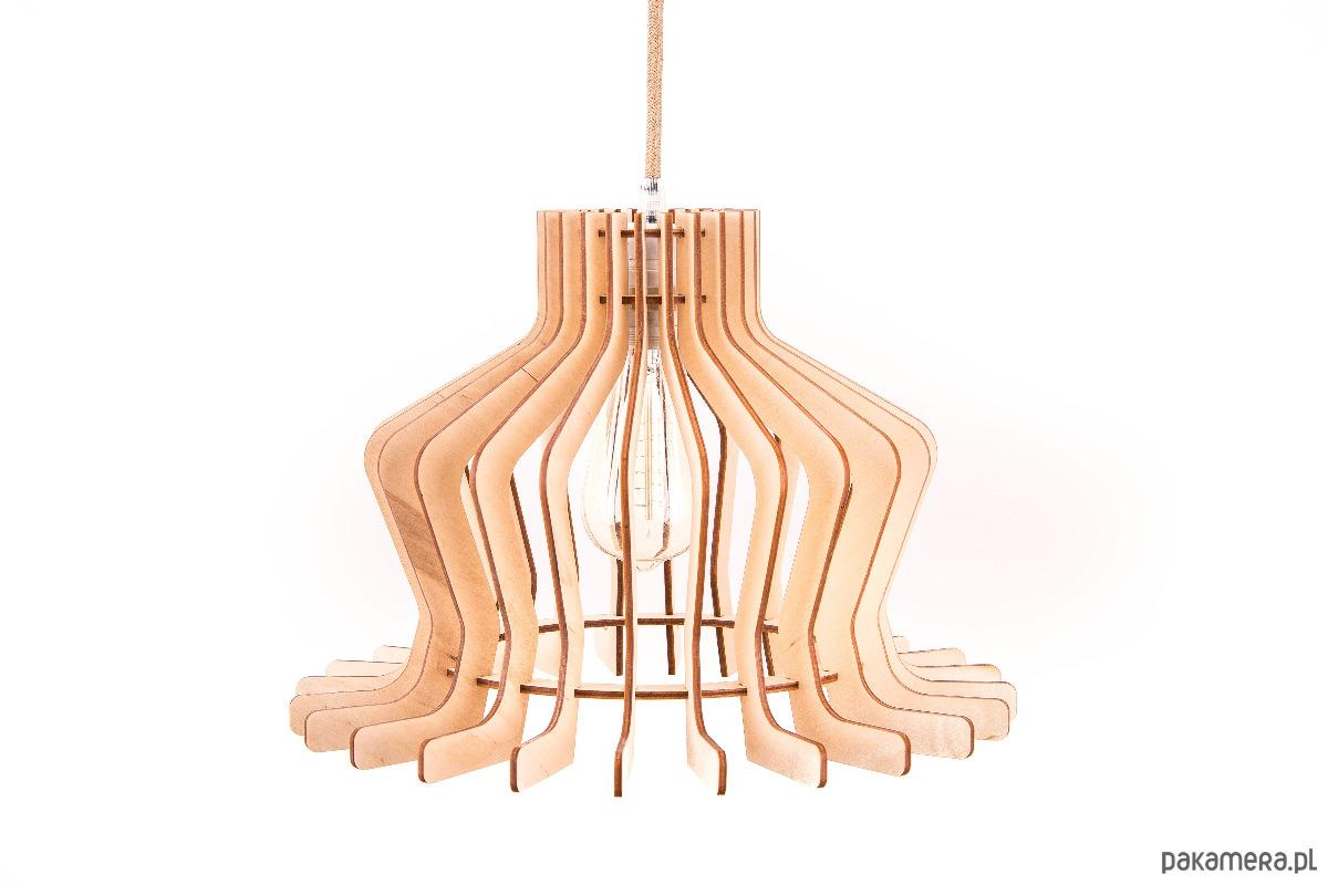 e0d6aa2072bf Klasyczna lampa drewniana sufitowa wisząca - lampy - wiszące ...