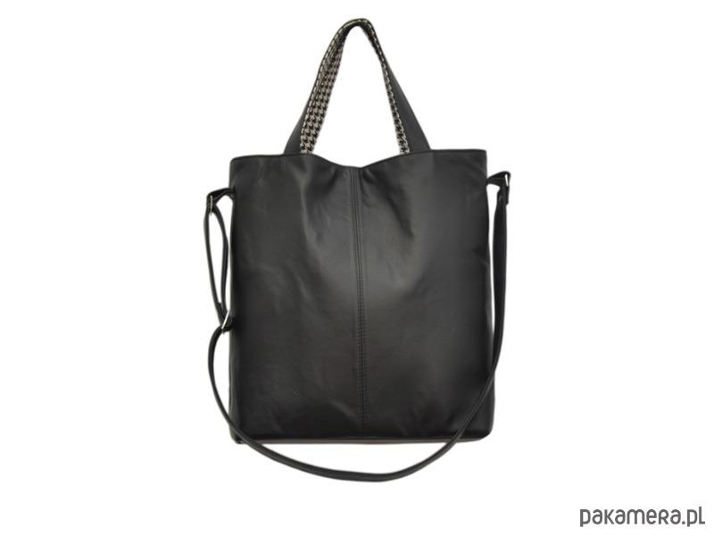2ec87783b6e9d 16-0022 Czarna duża torebka damska JAY - torby na ramię - damskie ...