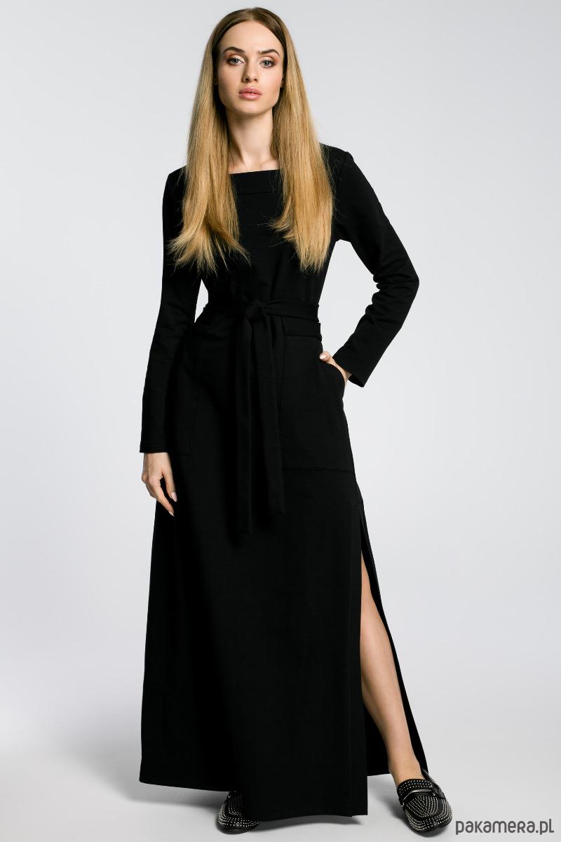 Sukienka maksi z rozcięciem