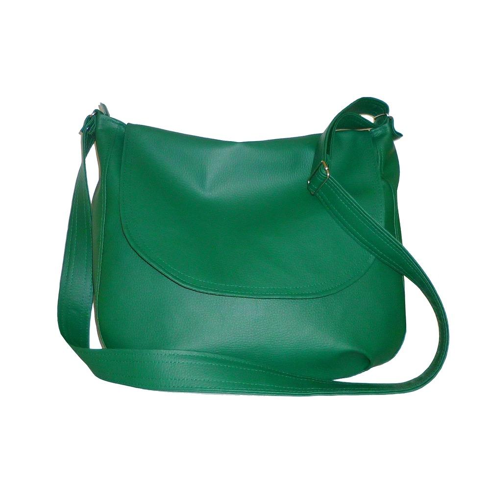 8f6e1c4bb2a57 torby na ramię - damskie-zielona listonoszka worek